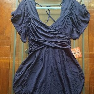 Gorgeous Asos Draped Navy Blue Tulip Dress